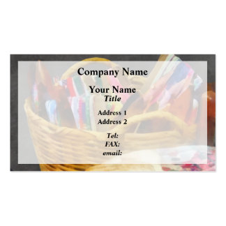 Ribbons in Basket Business Card