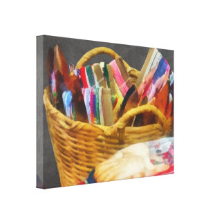 Ribbons in Basket Gallery Wrapped Canvas