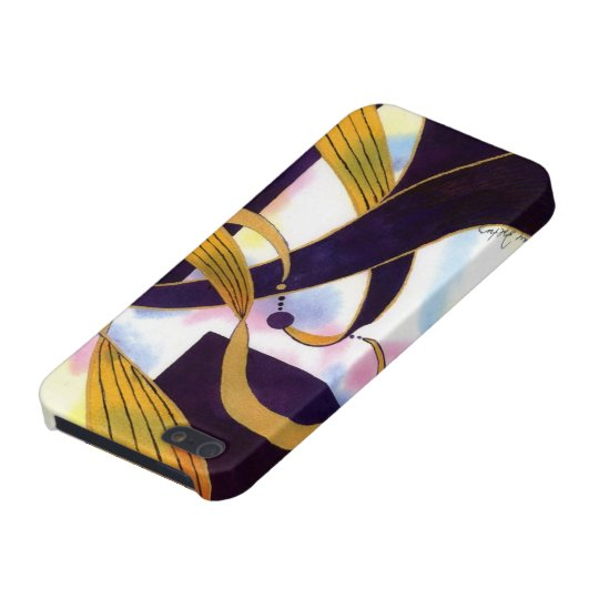 Ribbons in Black & Gold - Abstract in Watercolor Case For iPhone SE/5/5s