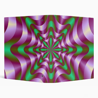Ribbons in Purple and Green Binder