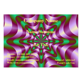 Ribbons in Purple and Green Chubby Business Card