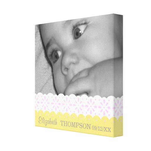 Ribbons & Lace Baby Photo Canvas