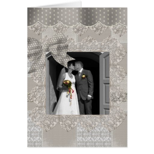 Ribbons & Lace Photo Frame Card