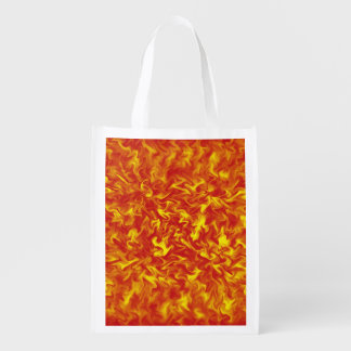 Ribbons of Fire Reusable Grocery Bag