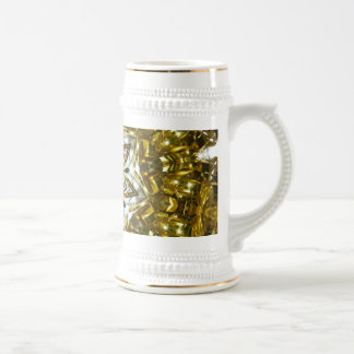 Ribbons of gold beer stein