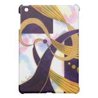 Ribbons of Gold & Black iPad Mini Cover