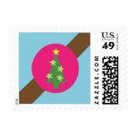 Ribbons & Ornaments Holiday Postage (blue)