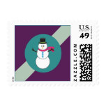 Ribbons & Ornaments Holiday Postage (eggplant)