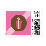 Ribbons & Ornaments Holiday Postage (pink)