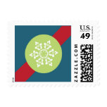 Ribbons & Ornaments Holiday Postage (teal)