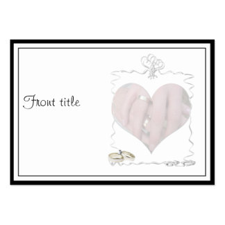 Ribbons & Rings with Wedding Couple Business Card
