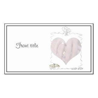 Ribbons & Rings with Wedding Couple Business Card Templates