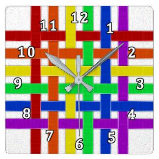 Ribbons Square Wall Clock