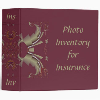 Ribbons to Claws - Burgundy 3 Ring Binder