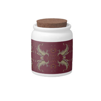 Ribbons to Claws - Burgundy Candy Jar