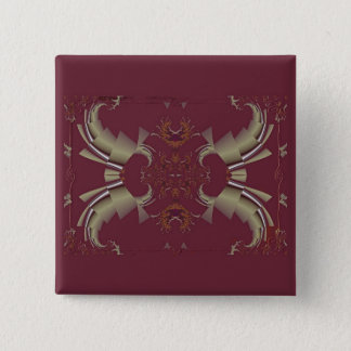 Ribbons to Claws - Burgundy Pinback Button