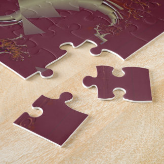 Ribbons to Claws - Burgundy Jigsaw Puzzle