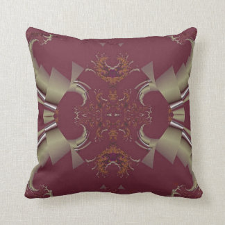 Ribbons to Claws - Burgundy Throw Pillow