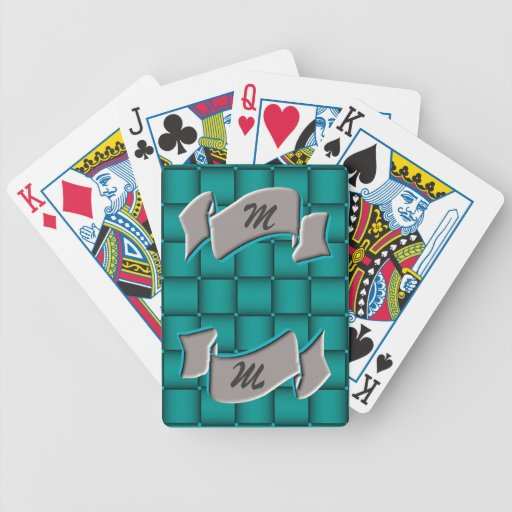Ribbons & Weave - Teal Bicycle Playing Cards