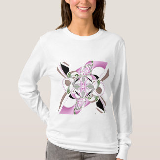 Ribbons Womens Long Sleeve Shirt