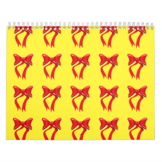 ribbons yellow background calendar