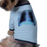 Ribcage Xray Skeleton Doggie Tee Shirt