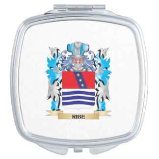Ribe Coat of Arms - Family Crest Makeup Mirror