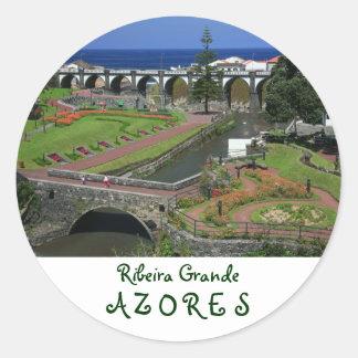 Ribeira Grande gardens Classic Round Sticker