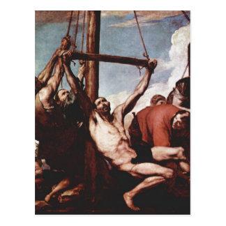 Ribera, Jos? de Martyrium des Hl. Philippus um 163 Postcard