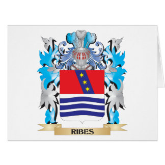 Ribes Coat of Arms - Family Crest Large Greeting Card