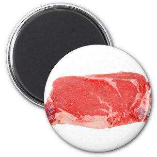 Ribeye Steak uncooked 2 Inch Round Magnet