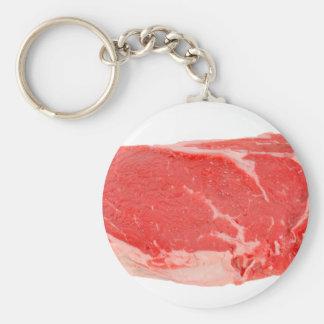 Ribeye Steak uncooked Basic Round Button Keychain