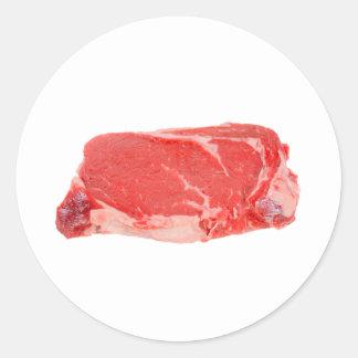 Ribeye Steak uncooked Classic Round Sticker