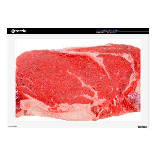 Ribeye Steak uncooked Decals For Laptops