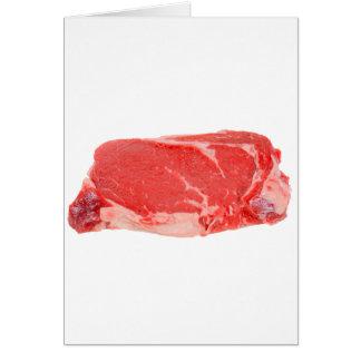 Ribeye Steak uncooked Greeting Card