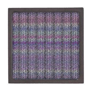 Ribknit rayado púrpura cajas de regalo de calidad
