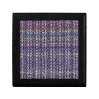 Ribknit rayado púrpura cajas de regalo