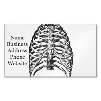 Ribs illustration - ribs art magnetic business card