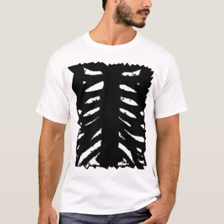 Ribs Inside Black T-Shirt
