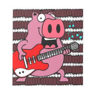 ribs rock pig notepad