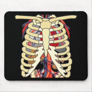 Ribs Veins Enlarged Heart Mouse Pad