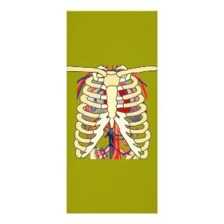 Ribs Veins Enlarged Heart Rack Card Template