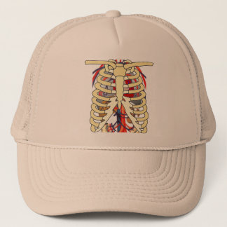 Ribs Veins Enlarged Heart Trucker Hat