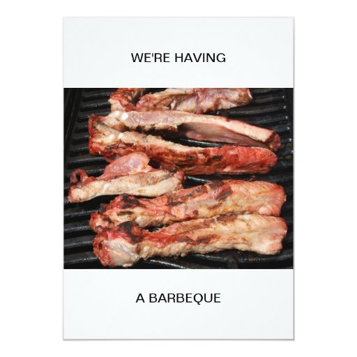 Ribs We are having a Barbeque Custom Announcement