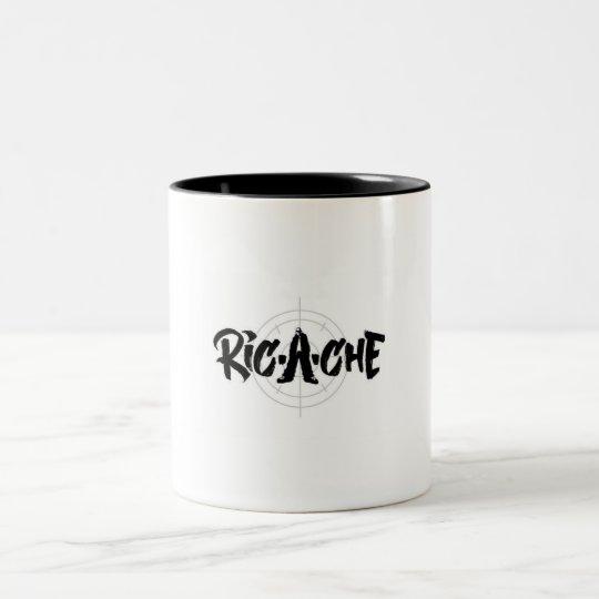 Ric-a-che logo Two-Tone coffee mug