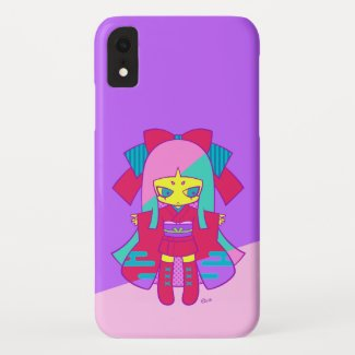 Rica girls D [purple and pink] - D child (purple Case-Mate iPhone Case