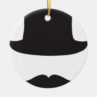 Ricachón de Tash del sombrero de copa Adorno Redondo De Cerámica
