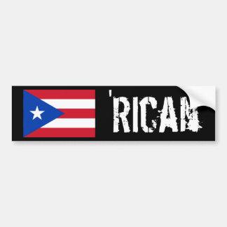 'Rican Bumper Sticker Car Bumper Sticker
