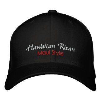 Rican hawaiano gorra del estilo de Maui Gorras De Beisbol Bordadas