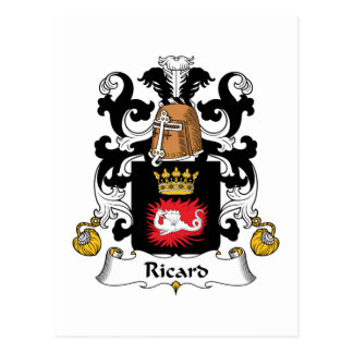 Ricard Family Crest Post Cards